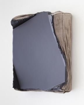 Compression Negativa 1 2016. Acrylic on linen, 32 x 26cm