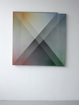 Flat Prism A, 2019, acrylic on linen, 122 x 124cm