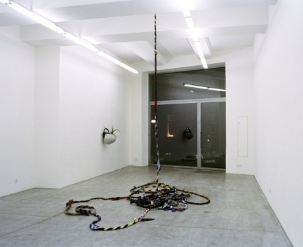 A Man Escaped 2003. Suits, ties & electrical wire. Engholm Gallery, Vienna