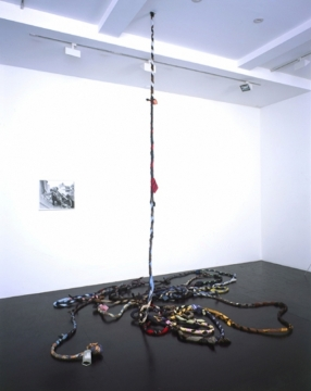 A Man Escaped 2004. Suits, ties & electrical wire. Lisson Gallery, London