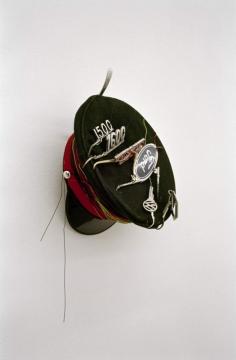 Chauffeur Automotive Fishing 2003. Cut car keys, car emblems, electrical wire & hat