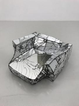 Via Negativa (Broken Reflection 2) 2018, reinforced alpha crystalline gypsum & mirror, 26 x 63 x 55cm