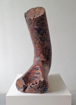 Fallen Column 4, 2017, scagliola technique, 125 x 64 x 50cm