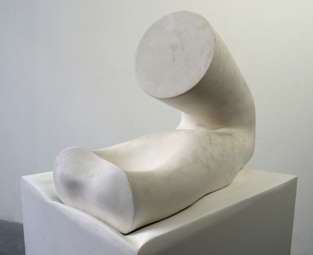 Tool and Work 2017, hemihydrate plaster, 80 x 64 x 50cm