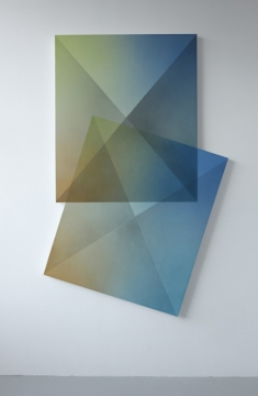 Flat Prism B, 2019, acrylic on linen, 183 x 118cm