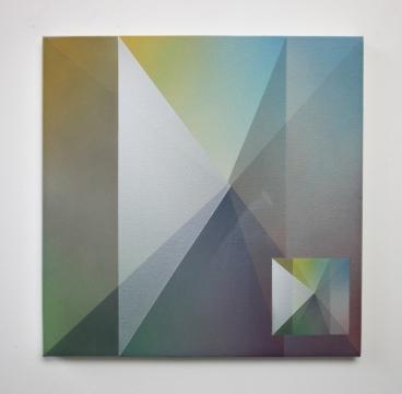 Contact C, 2019, acrylic on canvas 50 x 50cm