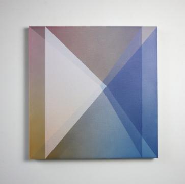 Double Prism, 2019, acrylic on linen 50 x 50cm