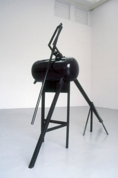 Untitled 5, 1998, painted steel & rubber