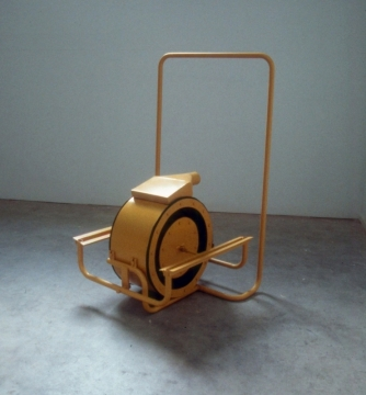 Untitled 3, 1998, painted steel & rubber
