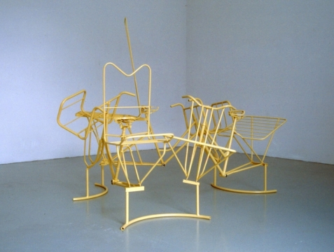 Untitled 4, 1998, painted steel